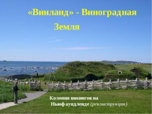 «Винланд» - Виноградная Земля Колония викингов на Ньюфаундленде (реконструкц