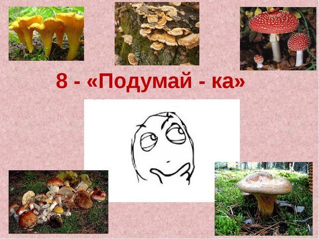 8 - «Подумай - ка»