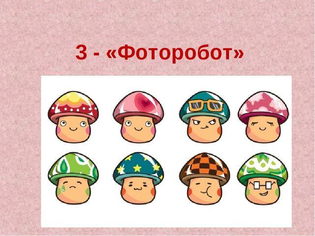 3 - «Фоторобот»