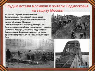 Грудью встали москвичи и жители Подмосковья на защиту Москвы 12 тысяч ступинц