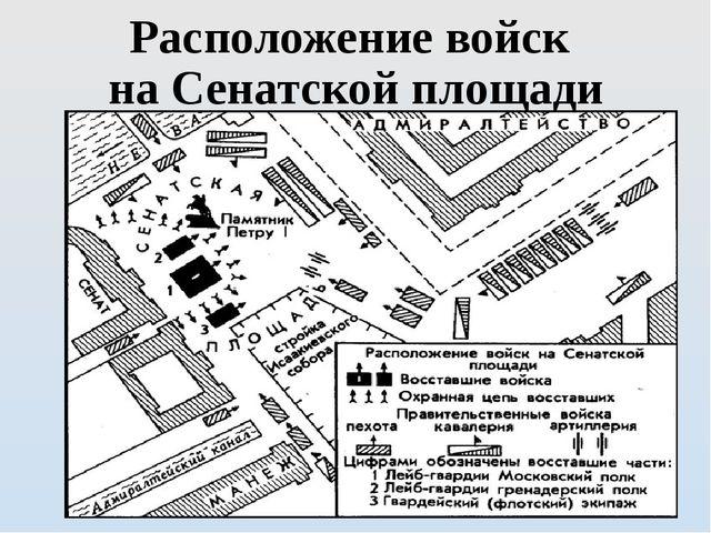 Расположение войск на Сенатской площади