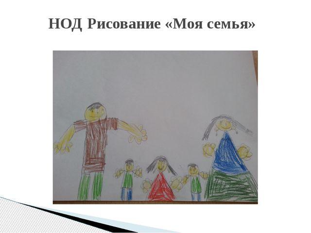 НОД Рисование «Моя семья»