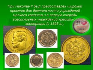 При Николае ІІ был предоставлен широкий простор для деятельности учреждений м