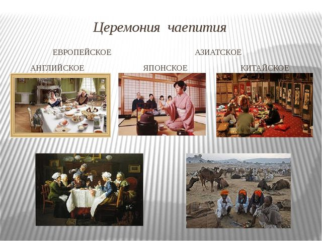 Церемония чаепития ЕВРОПЕЙСКОЕ АЗИАТСКОЕ АНГЛИЙСКОЕ ЯПОНСКОЕ КИТАЙСКОЕ ГАЛОНД...