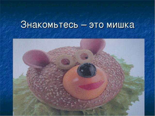 Знакомьтесь – это мишка