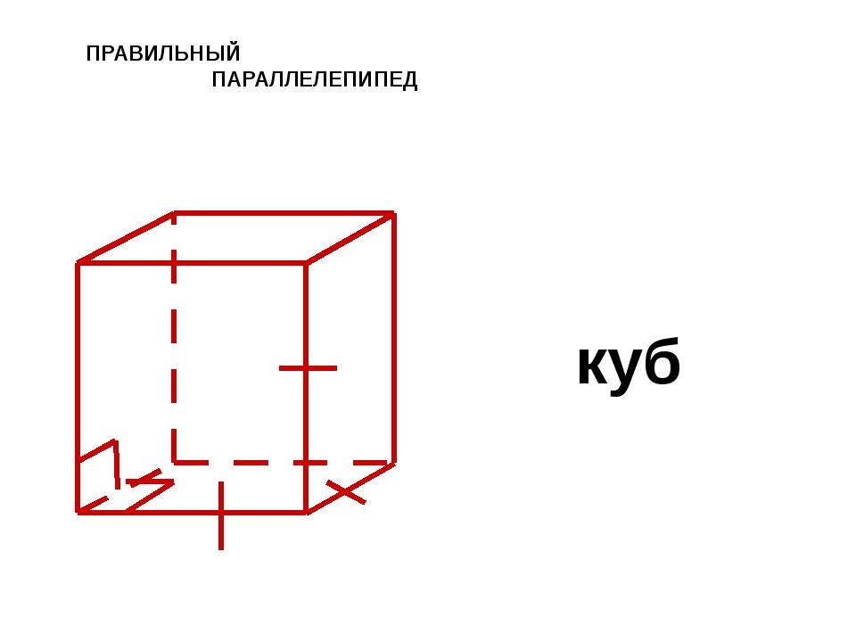 ПРАВИЛЬНЫЙ ПАРАЛЛЕЛЕПИПЕД куб