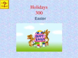 Holidays 300 Easter Game Board