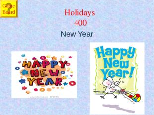 Holidays 400 New Year Game Board