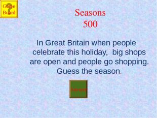 Seasons 500 In Great Britain when people celebrate this holiday, big shops ar