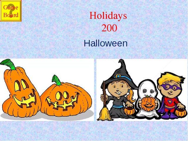 Holidays 200 Halloween Game Board