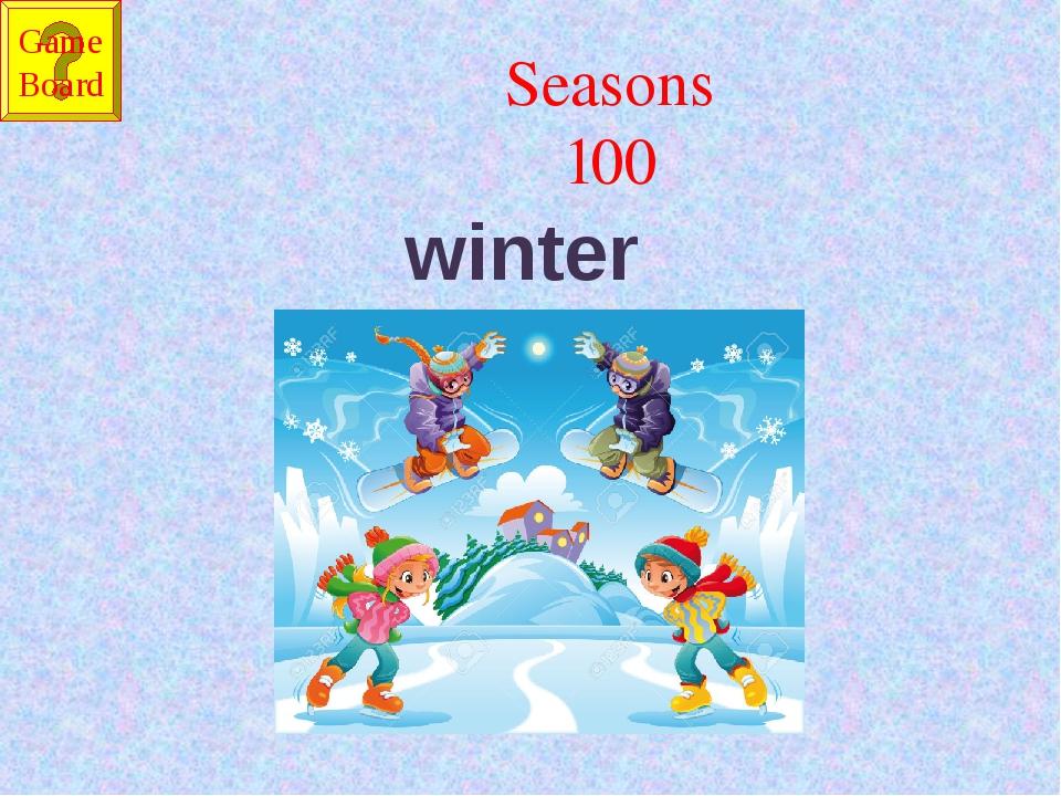 Seasons 100 winter Game Board