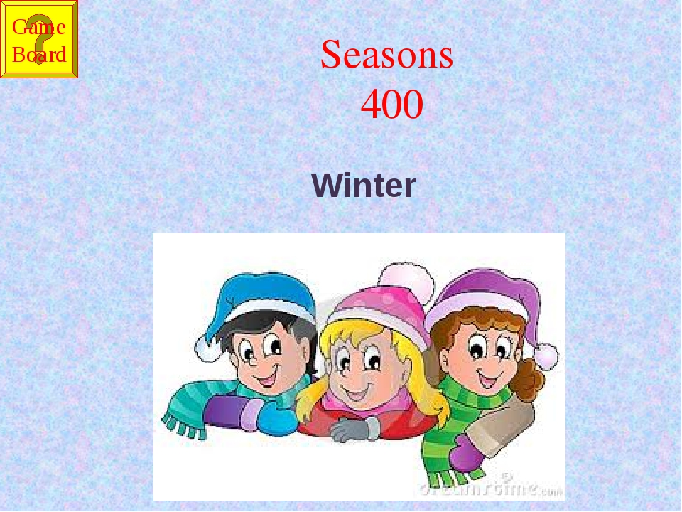 Seasons 400 Winter Game Board
