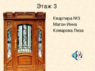 Этаж 3 Квартира №3 Магон Инна Комарова Лиза