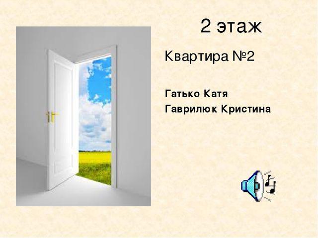 2 этаж Квартира №2 Гатько Катя Гаврилюк Кристина