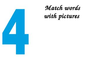 Match words with pictures