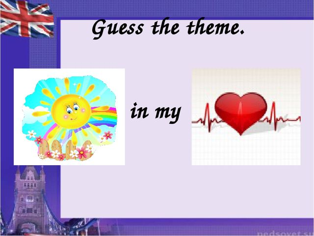 Guess the theme. in my
