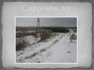 Сафронов лог