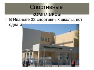 Спортивные комплексы В Иванове 32 спортивных школы, вот одна из них.