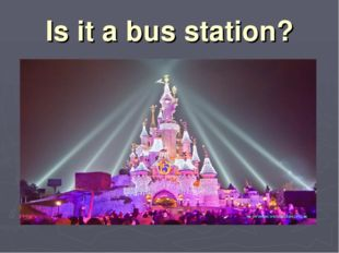 Is it a bus station?