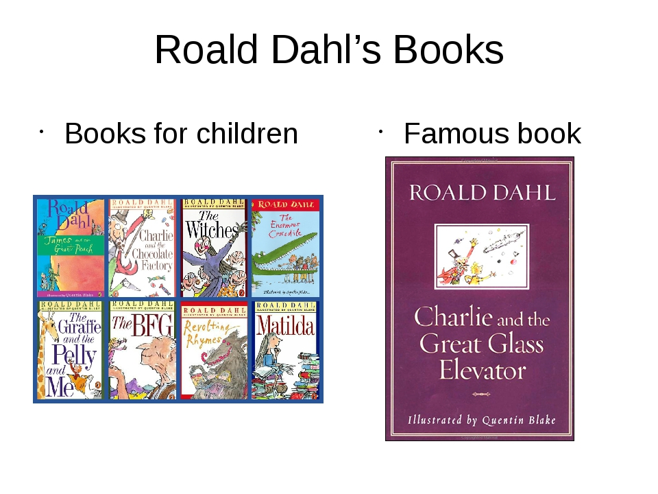 Roald Dahl's Books Books for children Famous book
