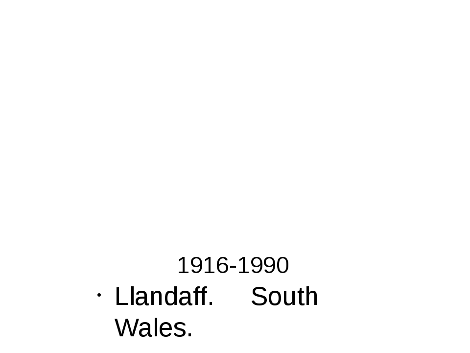 1916-1990 Llandaff. South Wales. L