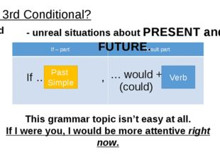 Past Simple Verb This grammar topic isn't easy at all. If I were you, I would