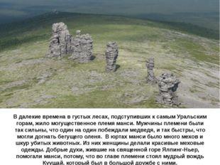 В далекие времена в густых лесах, подступивших к самым Уральским горам, жило
