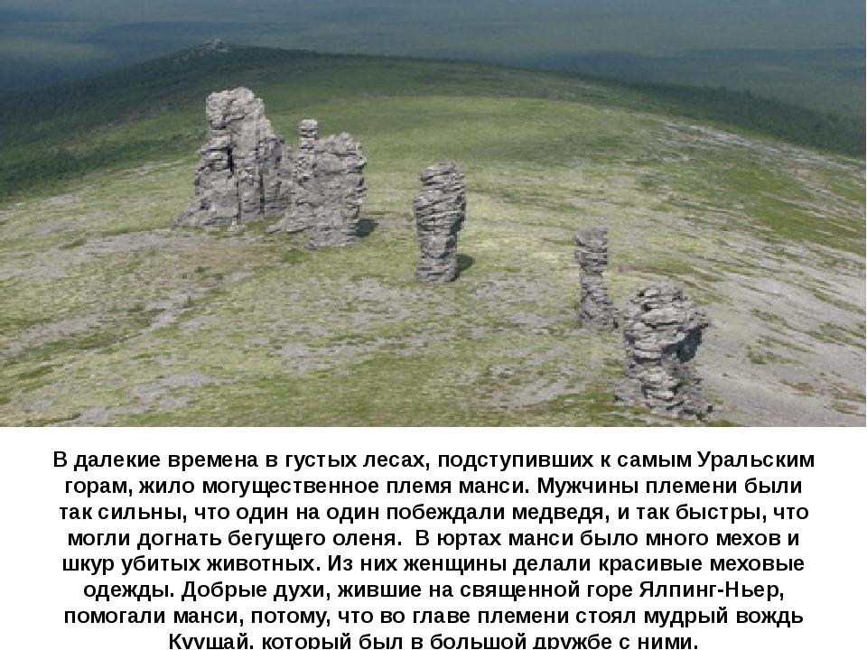 В далекие времена в густых лесах, подступивших к самым Уральским горам, жило...