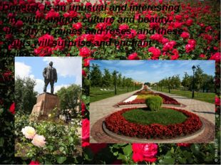 Donetsk is an unusual and interesting city with unique culture and beauty, t