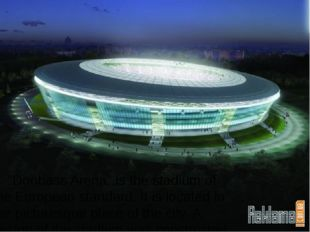 """Donbass Arena"" is the stadium of the European standard. It is located in th"