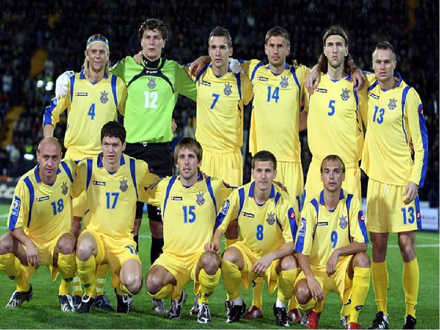 We are proud that our Ukrainian National Football Team will participate in t...