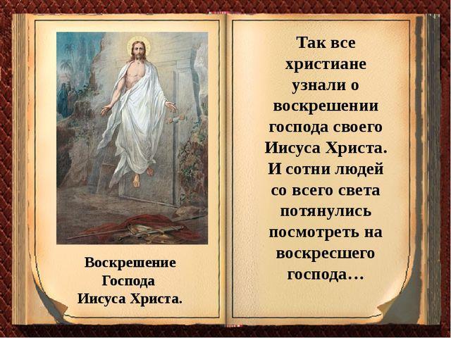 Воскрешение Господа Иисуса Христа. Так все христиане узнали о воскрешении гос...