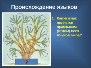 Происхождение языков Индоевропейский праязык Какой язык является праязыком (о