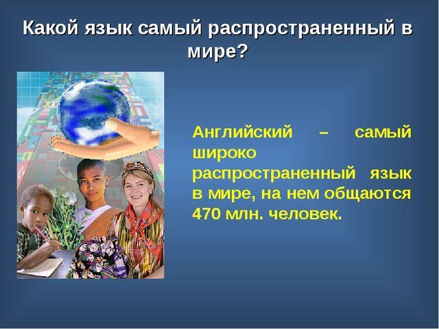 Английский – самый широко распространенный язык в мире, на нем общаются 470 м...