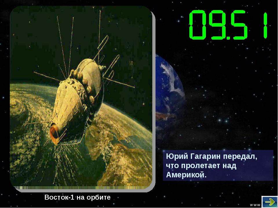 Юрий Гагарин передал, что пролетает над Америкой. Восток-1 на орбите