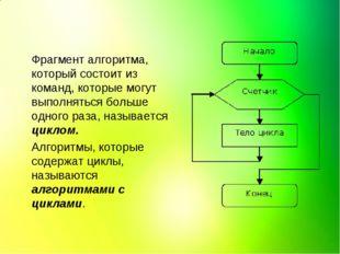 Фрагмент алгоритма, который состоит из команд, которые могут выполняться боль