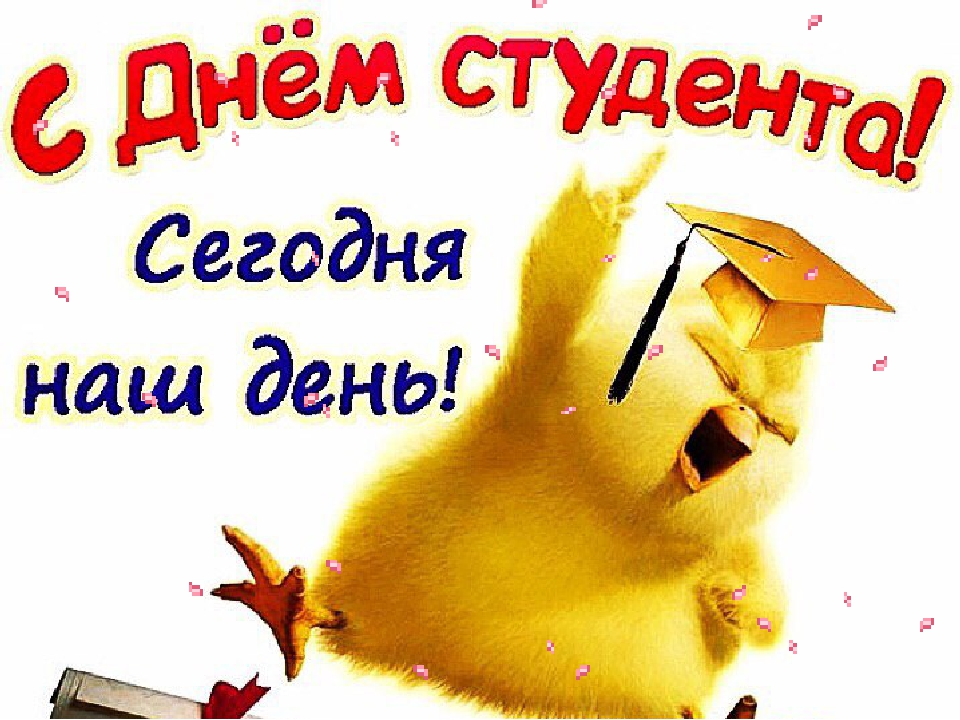 Прикольные поздравления днем студента
