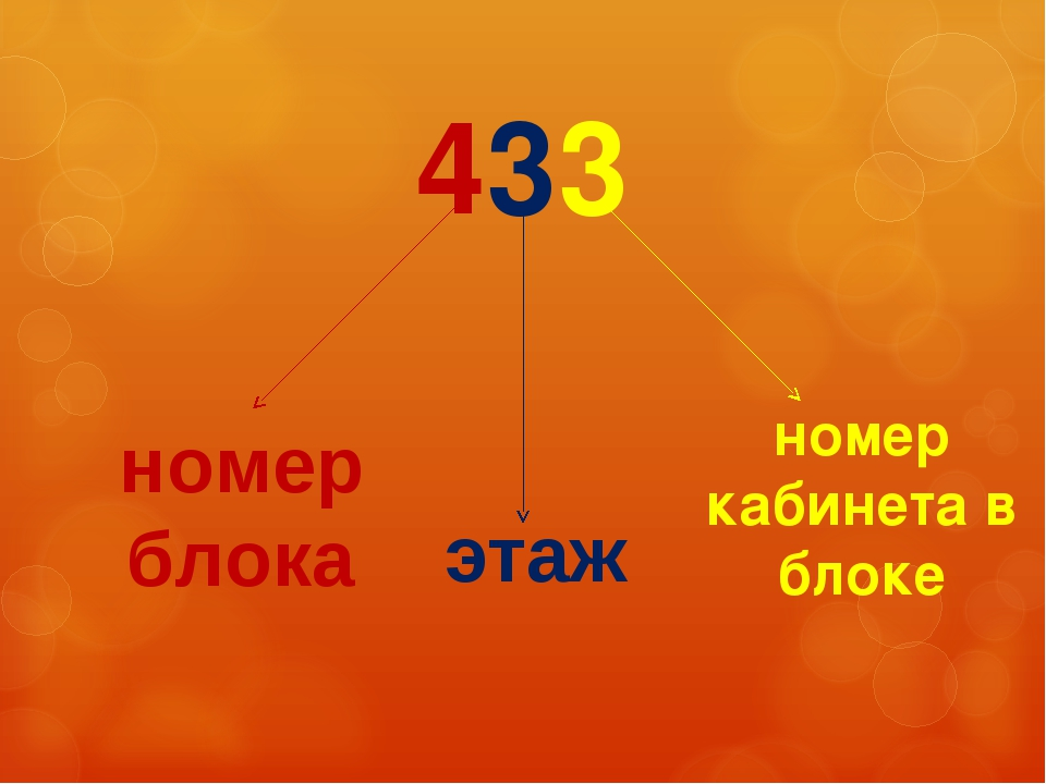 433 номер блока номер кабинета в блоке этаж