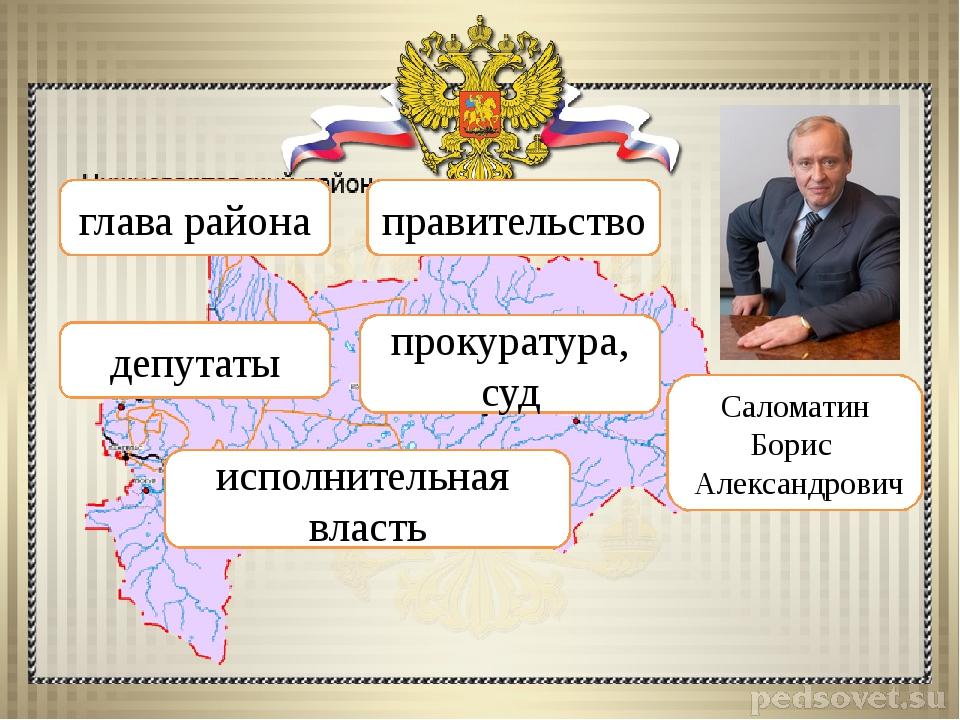 Саломатин Борис Александрович глава района правительство депутаты прокуратура...