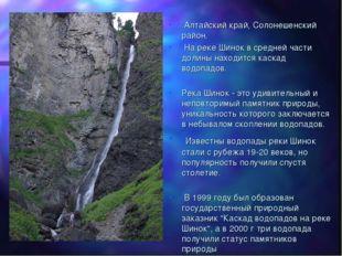 Алтайский край, Солонешенский район. На реке Шинок в средней части долины на