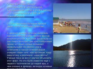 Озеро Большое Яровое расположено в центральной Кулундинской степи, в 8 км к з