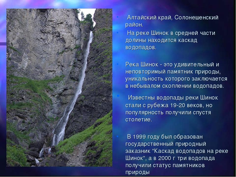 Алтайский край, Солонешенский район. На реке Шинок в средней части долины на...