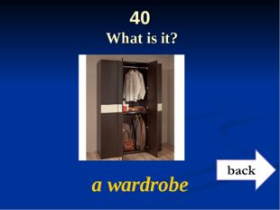 40 What is it? a wardrobe