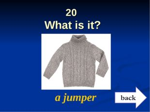 20 What is it? a jumper