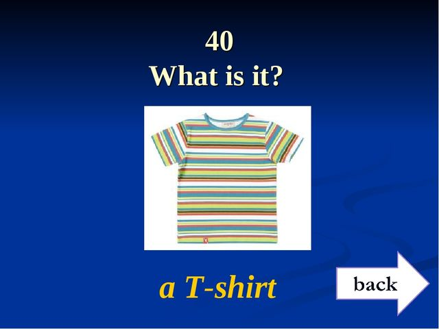 40 What is it? a T-shirt