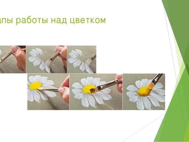 Этапы работы над цветком