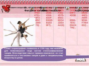 Слово «хореография» появилось в 1700 году, как название для появлявшихся тог