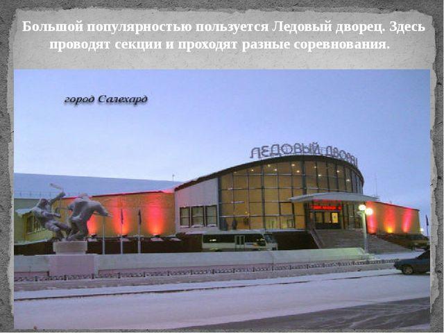 Большой популярностью пользуется Ледовый дворец. Здесь проводят секции и прох...