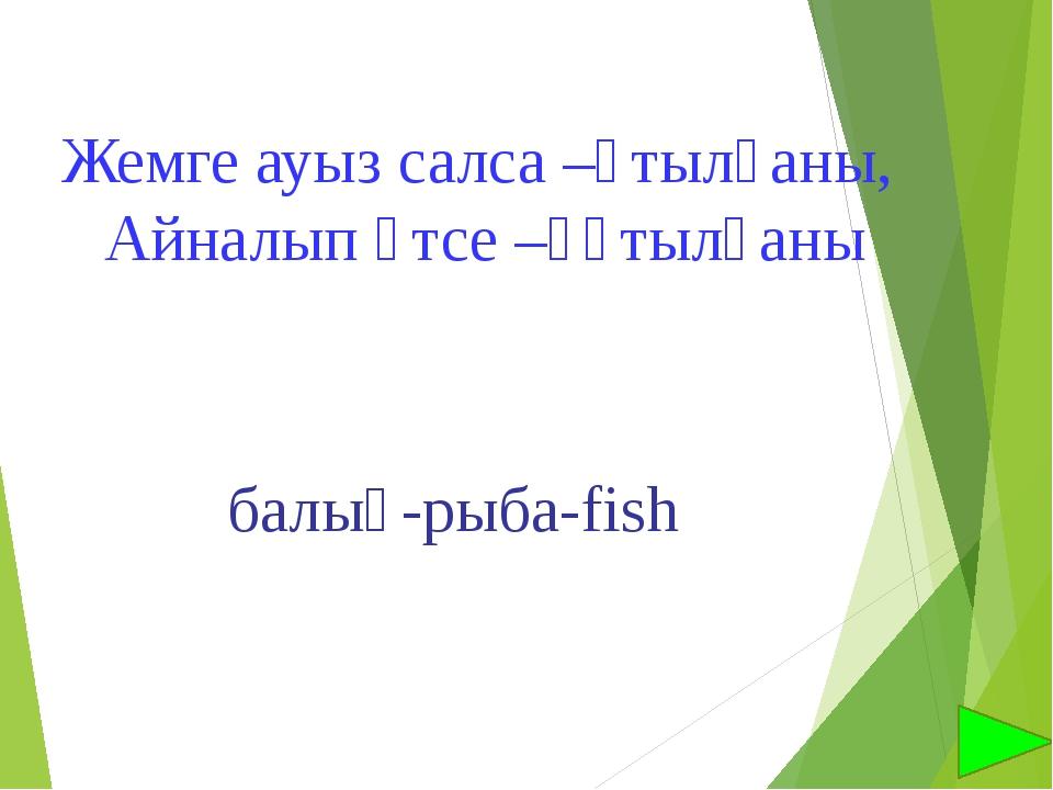 Жемге ауыз салса –ұтылғаны, Айналып өтсе –құтылғаны балық-рыба-fish