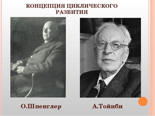 КОНЦЕПЦИЯ ЦИКЛИЧЕСКОГО РАЗВИТИЯ О.Шпенглер А.Тойнби